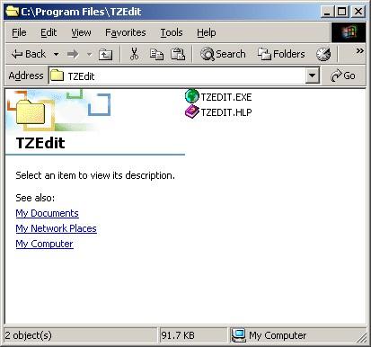 TZEdit folder contents